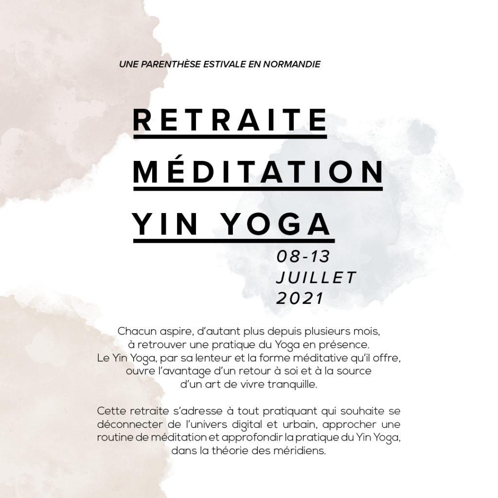 Retraite Méditation Yin Yoga
